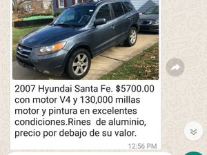 Hyundai santa fe 2007 for Sale in Wheaton, MD