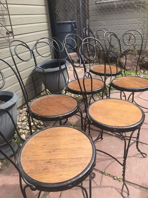 6 Antique Ice Cream Parlor Chairs for Sale in Denver, CO