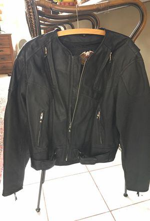 Ladies Harley Davidson motorcycle leather jacket - great condition for Sale in Orlando, FL