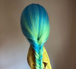 Blue Green ombre Human Hair Wig for Sale in Silver Spring, MD