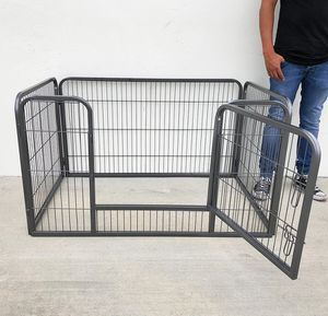 "New in box $75 Heavy Duty 49""x32""x28"" Pet Playpen Dog Crate Kennel Exercise Cage Fence, 4-Panels for Sale in El Monte, CA"