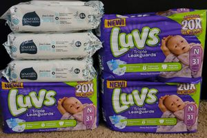 Luvs newborn baby bundle for Sale in Glendora, CA