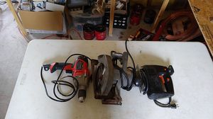 Set of 3 portable hand held power tools with cables for Sale in Prairieville, LA