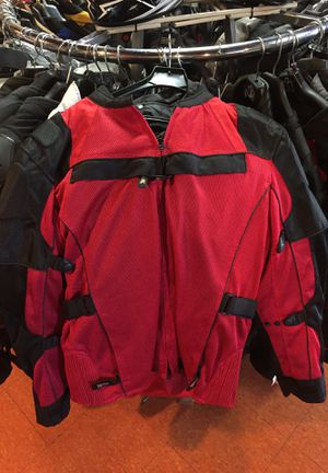 New black and red motorcycle armor jacket $130 for Sale in Whittier, CA