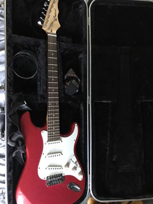 Crescent electric guitar with case for Sale in Santa Ana, CA