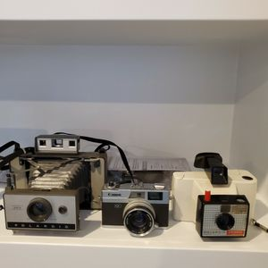 Vintage Polaroid And Canon Cameras And Light Filter for Sale in Maple Valley, WA