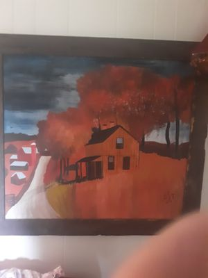 42x 37 1/2 Oil painting Antique Farm house for Sale in Alexandria, LA