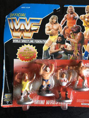 WWF hasbro mini figures on card for Sale in SEATTLE, WA
