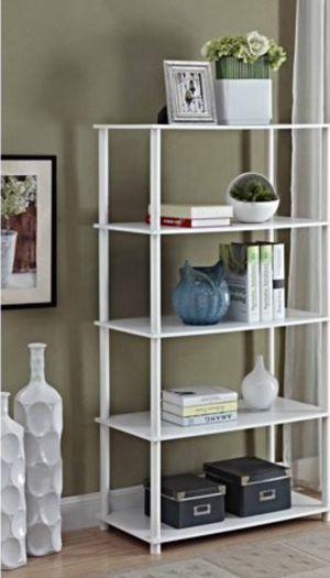 New!! Bookcase, 8 cube organizer, 5 shelf bookcase, bookshelves, organizer, living room furniture, storage unit, white for Sale in Phoenix, AZ