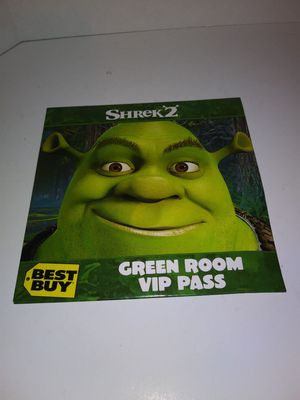 Shrek 2 Green Room VIP Pass for Sale in Garland, TX