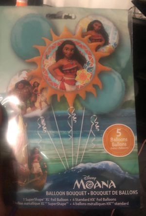 Moana balloons and center pieces for Sale in Los Angeles, CA