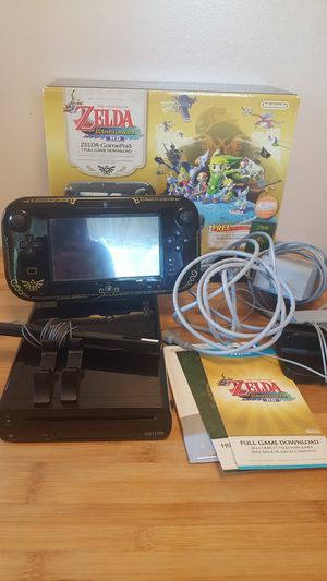 Wii U Zelda edition with 5 additional games for Sale in Morrisville, PA