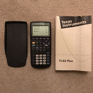 Ti-83 ti 83 plus graphing calculator with manual for Sale in Burtonsville, MD