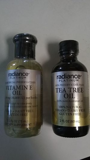 Radiance platinum Vitamin E oil & Tea tree oil (Vegan. Dairy free. Gluten free) for Sale in Cary, NC