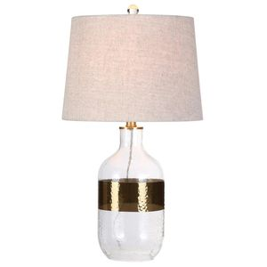 JONATHAN Y Stevens 25.5 in. H Clear/Brass Glass Table Lamp BRAND NEW for Sale in Plantation, FL