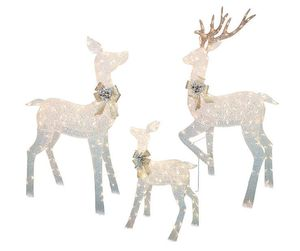 White Light-Up LED Deer Family, 3-Piece Set for Christmas Decoration, Indoor, Outdoor, Garden, Lawn for Sale in Henderson, NV