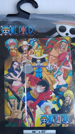 """46"""" x 60"""" LEGIT ANIME ONE PIECE THROW BLANKET. for Sale in City of Industry, CA"""