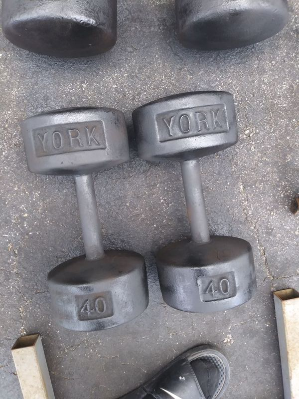 40lbs york dumbells