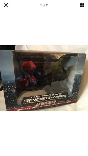 The Amazing Spider-Man(3D+Bluray/DVD,4-Discs,With Action Figurine)Lenticular-NEW for Sale in Escondido, CA