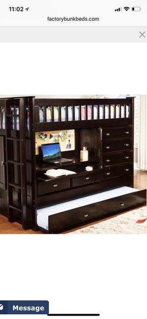 Solid Wood Express Bunk Beds (like new) for Sale in Dinuba, CA