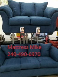Ashley Furniture New Stock Blue Polyester Sofa Loveseat for Sale in College Park,  MD