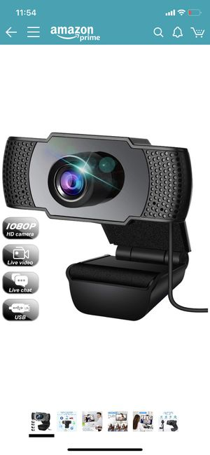 Webcam, Webcam with Microphone, USB Webcam with 3D Denoising and Automatic Gain, 1080p Webcam for Video Calling, Online Classes and Video Conference for Sale in Brooklyn, NY
