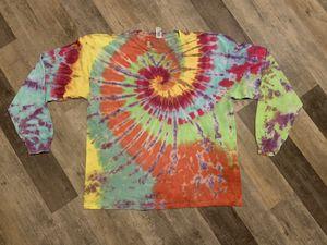 Handmade cotton tie dye long sleeve TShirt hippie boho shabby groovy spiral Unisex Adult 2XL for Sale in York, PA