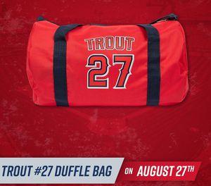 LA angels baseball MIKE TROUT #27 duffle bag for Sale in Santa Ana, CA