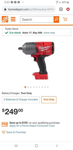 """Milwaukee M18 Fuel 1/2"""" High Torque Impact Wrench w Friction Ring. 2767-20 for Sale in Glendale, AZ"""