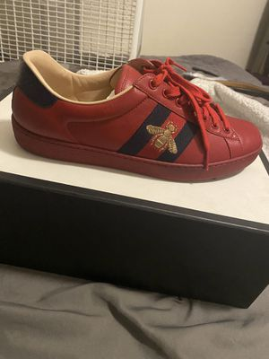 Red Gucci Sneakers size 8.5 for Sale in Baldwin Hills, CA