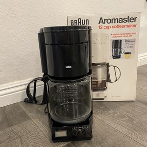 Vintage Rare Braun Aromaster Black Edition 12 Cup Coffee Maker Made In Germany for Sale in Anaheim, CA