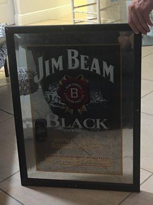 Jim Bean Bar Mirror! Jim Bean Black for Sale in West Palm Beach, FL