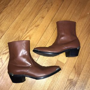Mens Shoes Cow Leather Western Cowboy Size 10W Pre-owned Gently used for Sale in Rock Cave, WV