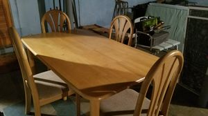 Wood dining table and 4 chairs for Sale in Hamilton Township, NJ