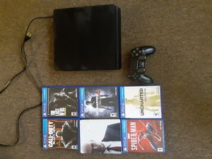 PS4 (500gb) controller and games for Sale in Bainbridge, NY