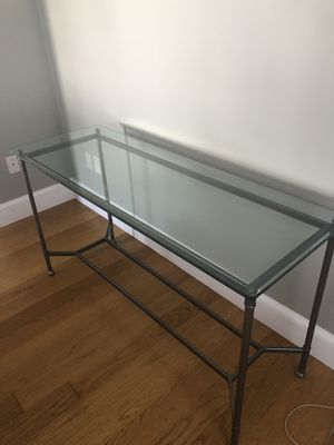 Metal and glass console table for Sale in Billerica, MA