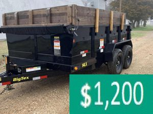 Price$12OO BIG-TEX 14LX 2017 hydraulic dump for Sale in Queens, NY
