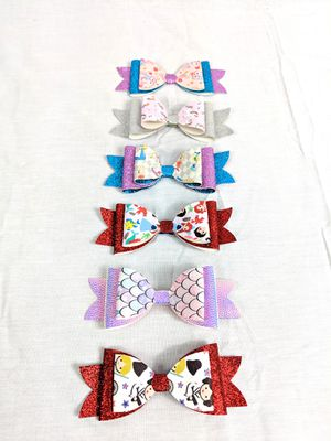 Lot of 6 New Handmade Large Girls Hair Bows for Sale in Eldersburg, MD