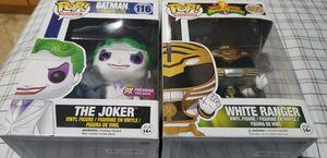 Funko Pop The Joker and White Power Ranger for Sale in Clifton, NJ