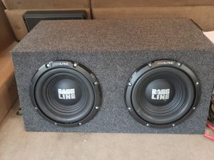 2 10 bass line 2500 watts subwoofer in dual box almost like brand new for Sale in Richmond, VA