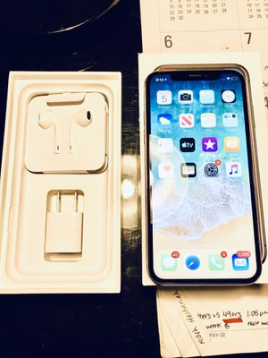 iPhone X 256GB in box with NEW earbuds and charger cord plus block... used in excellent condition with the highest amount of gigabytes apple allows for Sale in Tracy, CA
