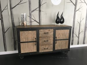One of Kind, Industrial Sideboard! Solid Piece! for Sale in Henderson, NV