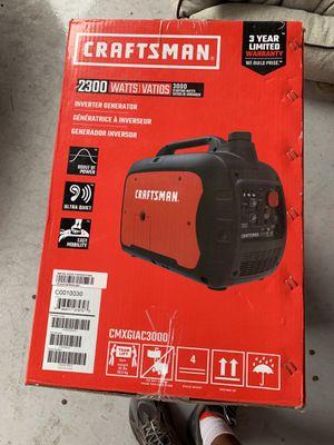 Craftsman power inverter portable generator 2300 watt for Sale in Austin, TX