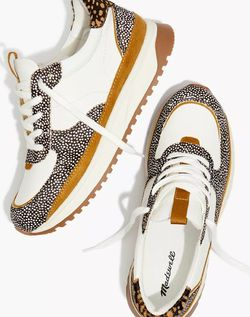 Madewell Kickoff Trainer Sneakers in Leather and Spot Mix Calf Hair Size 11 for Sale in Phoenix,  AZ