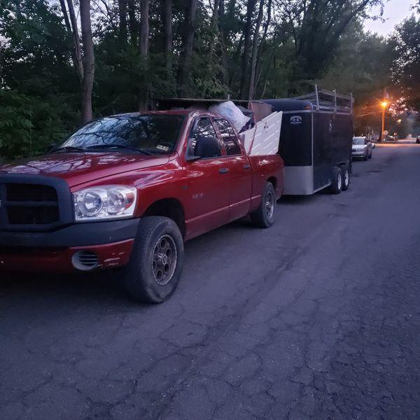 14ft Double Axle Trailer Left Rear Damaged