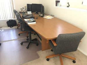 Office conference table and chairs for Sale in Albuquerque, NM