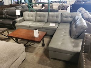 Brand New Faux Leather SECTIONAL Sofa black gray brown tax included and free delivery for Sale in Hayward, CA