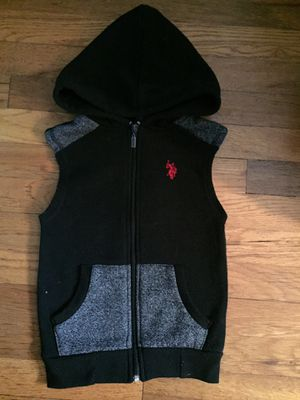 Ballot toddler 4t u.s polo assn zip up vest with hood for Sale in Queens, NY