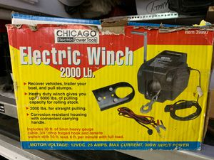 Chicago Winch 2000 lb $35 for Sale in Seattle, WA