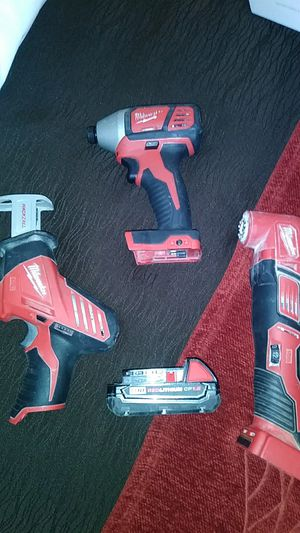 Milwaukee impact drill hex, hackzall,and multi tool for Sale in Portland, OR